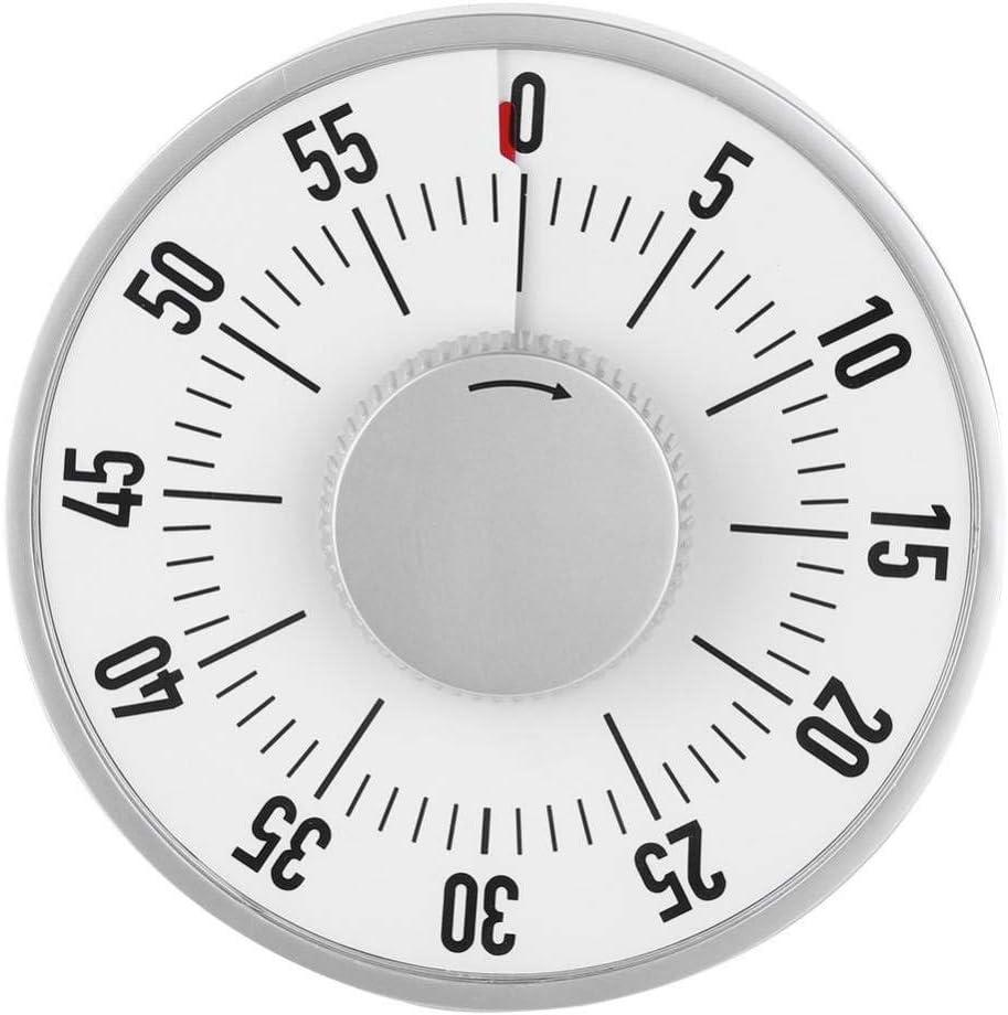 Temporizador De Cocina, Tiempo De Reloj De Cocción Mecánico De Acero Inoxidable De Forma Redonda Con Imán, Temporizador Mecánico De Chef