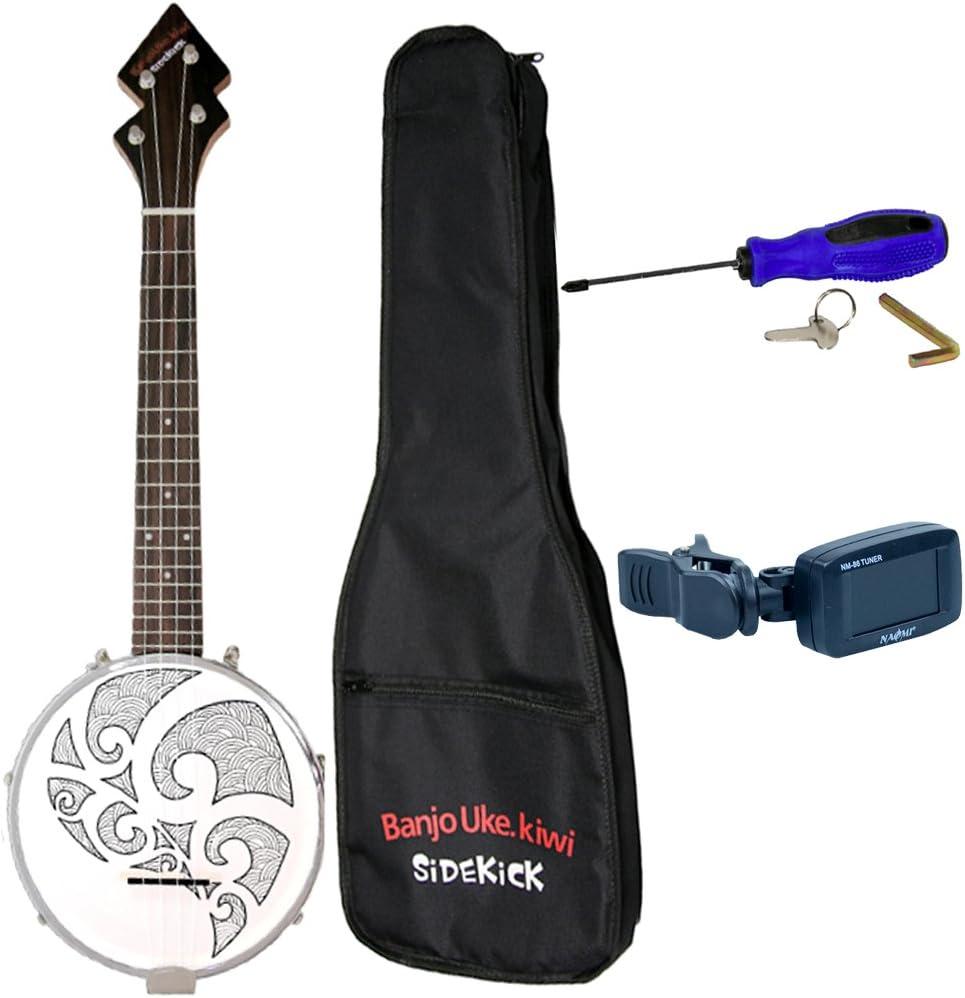 Shiwaki 26 Banjo Ukulele Uke Brich Wood With Gig Bag Tuner For Beginner Student