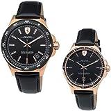 Scuderia Ferrari men's Black Dial Black Leather Watch - 870033