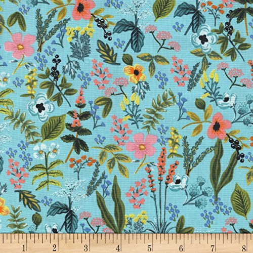 Cotton + Steel Rifle Paper Co Amalfi Herb Garden Mint Fabric by The - Fabric Cotton Garden