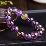 Natural 9mm Round Beads Ametrine Crystal Bracelet