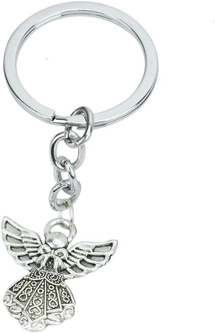Amazon.com: JETEHO - Llavero con colgante de ángel guardián ...