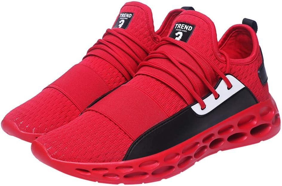 LuckyGirls Zapatillas de Correr Tenis Originales Color Mezclado Calzado de Deportivo Transpirables Zapatos con Cordones Moda Bambas de Running de Las Hombres: Amazon.es: Deportes y aire libre