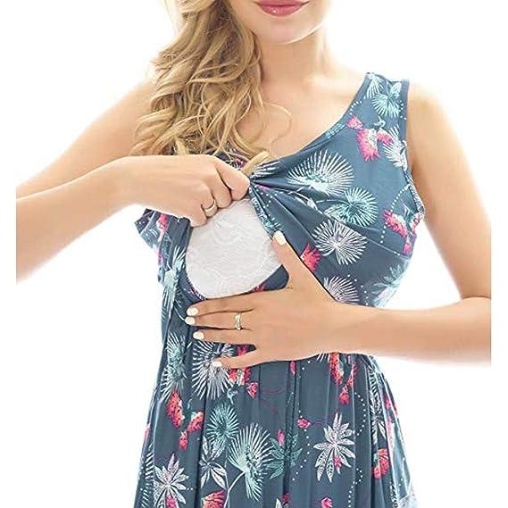Lurcardo Stillkeid Umstandskleid Kurzarm Pure Farbe V-Ausschnitt Bandage Stillkleid Schwangerschafts Kleid Mode Still-Nachthemd Stillen Kleid Umstandsmode Frauen Damen Kleid Sommer Damen Kleider