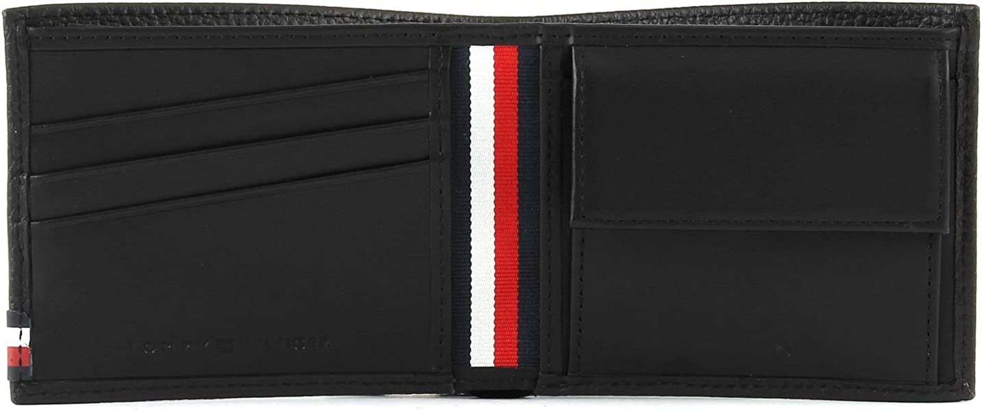 TOMMY HILFIGER AM0AM03191 SOFT LEATHER MONEDEROS Hombre BLACK UNI