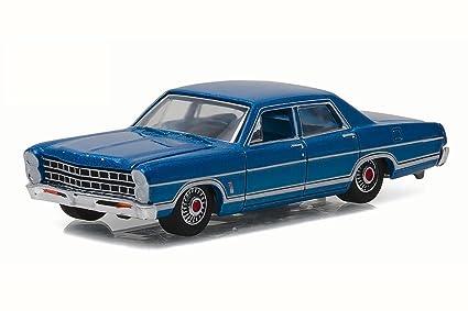 Greenlight 1967 Ford Galaxie 500, Acapulco Blue 29850B   1/64 Scale Diecast  Model