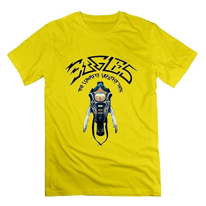 BORO T-shirt Hombres de Cool The Eagles camiseta de banda tamaño S color amarillo