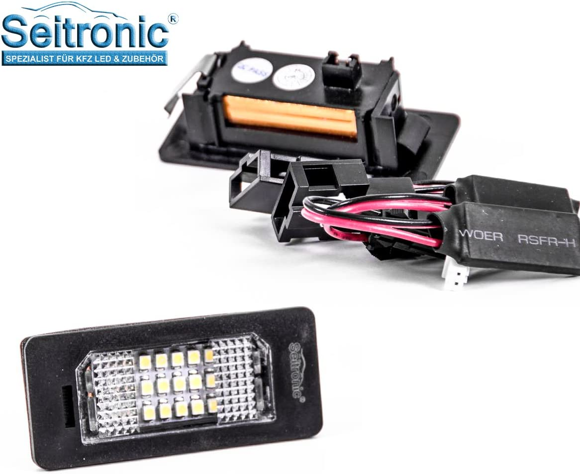 Hochwertige Premium Led Kennzeichenbeleuchtung 2 Module Passgenau Für Ihr Fahrzeug Abnahme Frei Sehr Hell Mit E Prüfzeichen Auto