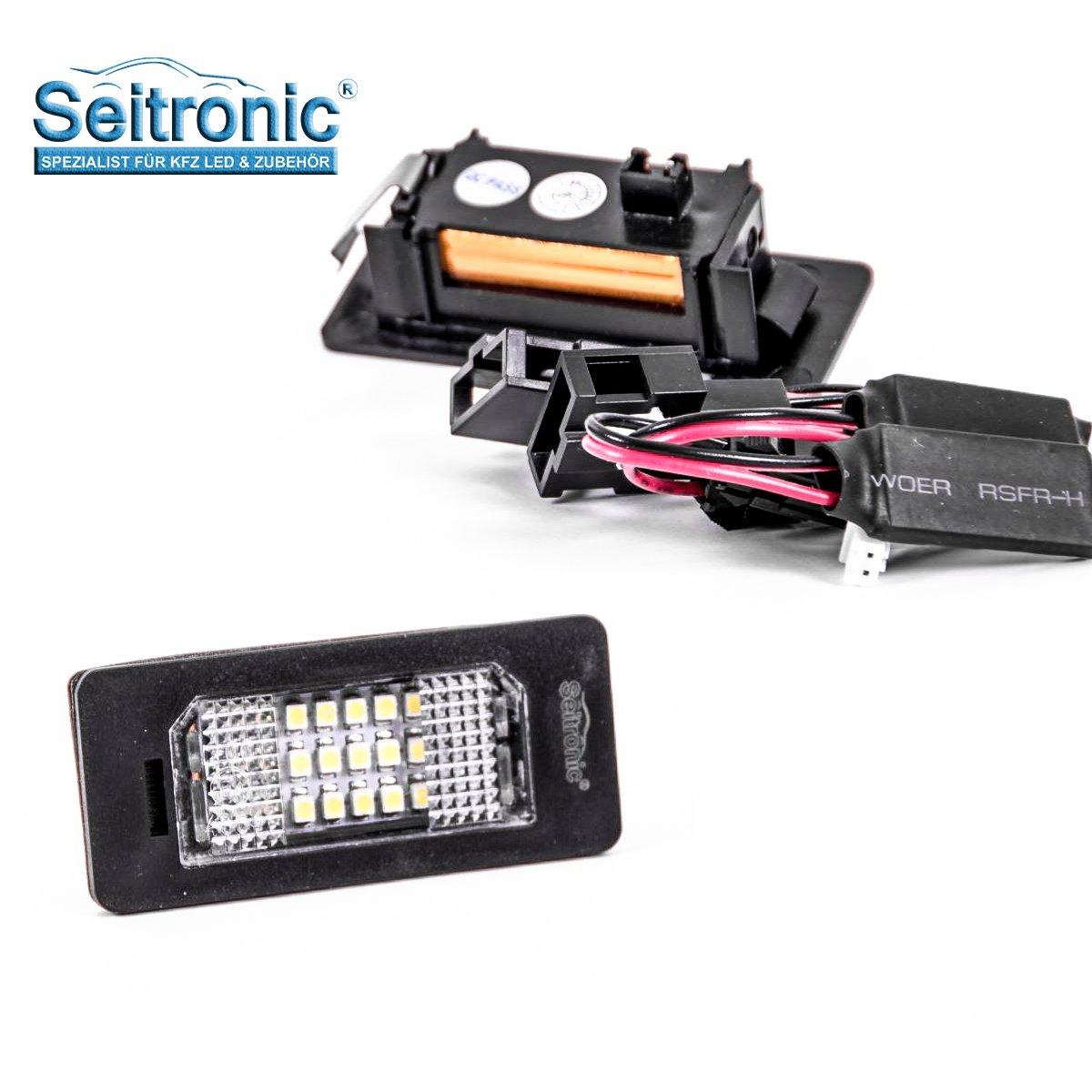 2 m/ódulos adecuados para tu veh/ículo Iluminaci/ón de matr/ícula pr/émium de alta calidad con led muy luminoso con marca de certificado E