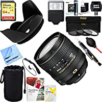 Nikon 20055 AF-S DX NIKKOR 16-80mm f/2.8-4E ED VR Lens for DSLRs + 64GB Ultimate Filter & Flash Photography Bundle