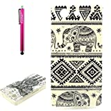 Xperia Z3 mini Case, Firefish [Clear Drop Protection] [Shock Absorbent] [Soft Bumper] TPU Rubber Silicone Clear Slim Lightweight Protective Skin for Sony Xperia Z3 mini - Ceramic Elephant