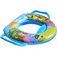 Potty Training Soft Toilet Seat with Handles, Suitable for All Toddlers, Nice Portable Cushioned Potty Seat with Splash…