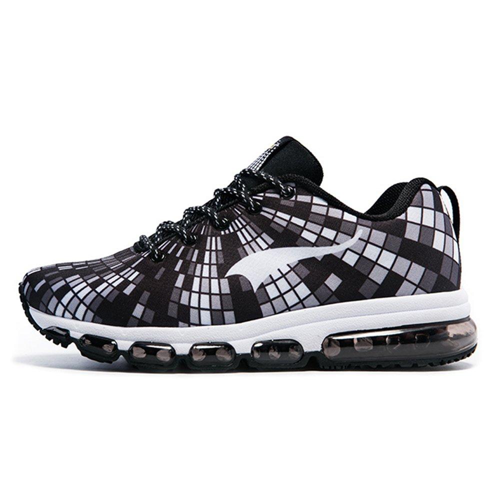 ONEMIX Air Zapatillas de Running para Hombre Zapatos para Correr y Asfalto Aire Libre y Deportes Calzado Zapatillas de running Casual Shoes 8 D(M) US 10.23inch|Blanco negro