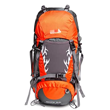 JSSFQK Mochila de montañismo para Exteriores, Gran Capacidad, Mochila de Viaje para Hombres y