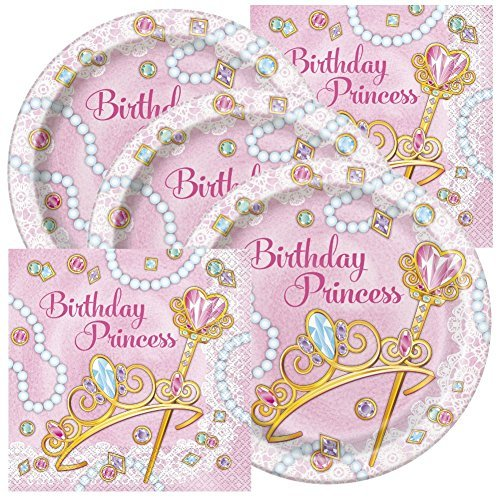 (Princess Themed Birthday Party Plates and Napkins (Serves 32) )