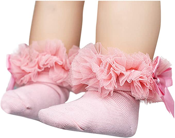 0-6 M Baby Girl Special Occasions Princess Socks /& Headband Set White /& Silver
