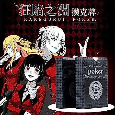 FidgetGear Anime Kakegurui póker Compulsivo Gambler Yumeko Jabami Print Deck Juego de cartas: Amazon.es: Hogar