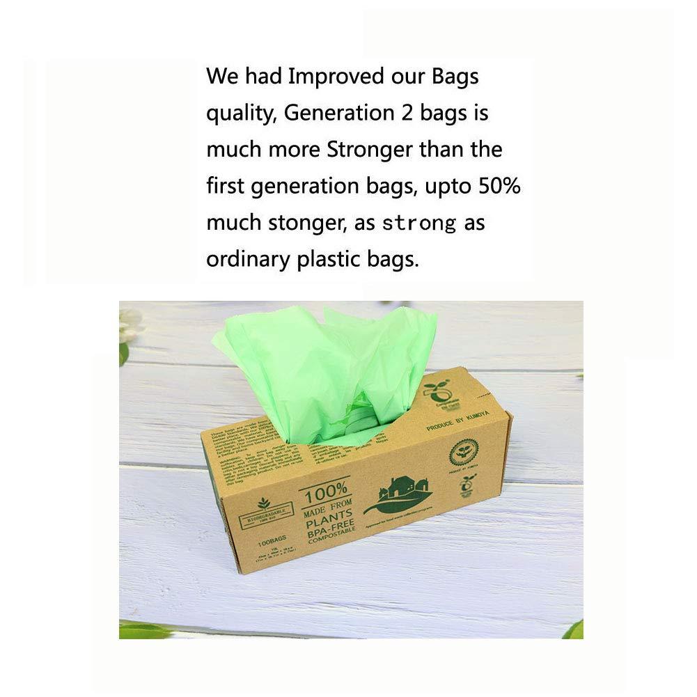 100 luxtons biodegradables trazadores de líneas de - 6litros/10 litros de alimentos para cocina Degradable de la basura trazadores de líneas de EN 13432 ...
