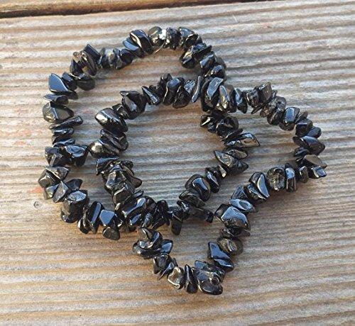 [A&S Crystals] IOLITE Natural Stone Gemstone Stretchy Chip Bracelet