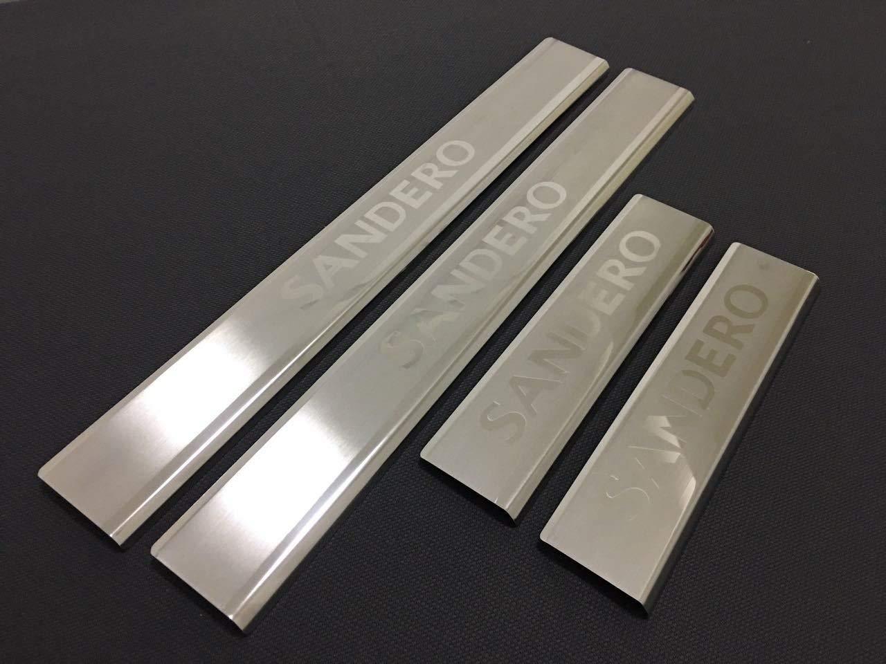 Sandero Stepway Protezione antigraffio per portiera in acciaio INOX cromato 4 porte