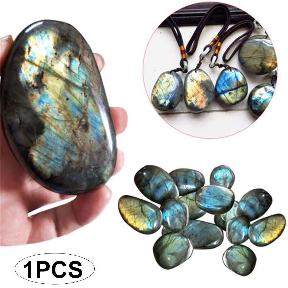 mxdmai 1pc Cristal Naturel Moonstone Gemstone cru Ornement Quartz Poli Labradorite dé coration en Pierre (0, 78 ? -1, 18 ?)