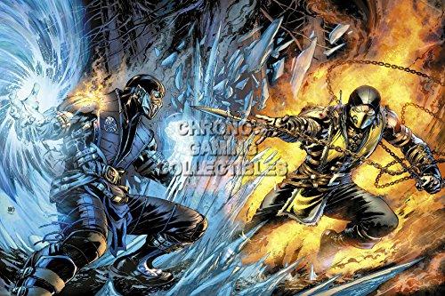 cgc-huge-poster-mortal-kombat-x-scorpion-vs-subzero-ps3-ps4-xbox-360-one-mkx067-24-x-36-61cm-x-915cm