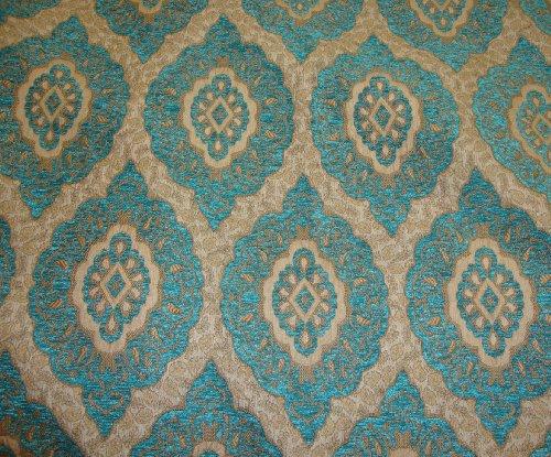 Marina Oval Chenille Upholstery Drapery Fabric By the Yard 57 Blue Chenille Upholstery Fabric