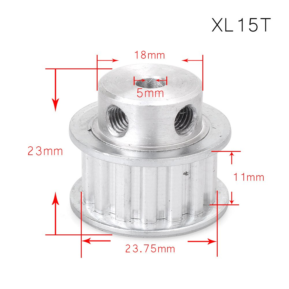 Newsmarts - Polea para correa dentada para impresora 3D, 6 mm ...