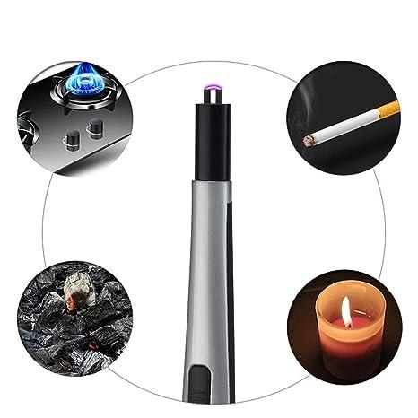 Aolvo Mechero de arco extendido, recargable por USB, encendedor de arco eléctrico, mechero de plasma / encendedor de coche ...