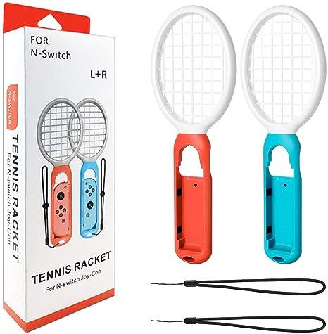 Kingwon - Raqueta de Tenis para Mario Tennis Aces, Accesorios de Juego para Nintendo Switch Joy-con Controller, Azul + Rojo: Amazon.es: Deportes y aire libre