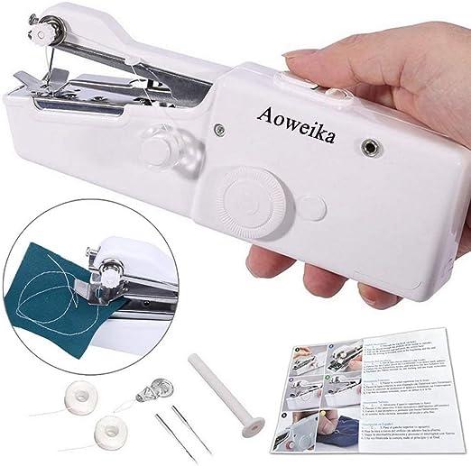Aoweika Mini Máquina de Coser Manual Portátil Herramienta de Puntada Rápida para Cortina Ropa Tela: Amazon.es: Hogar
