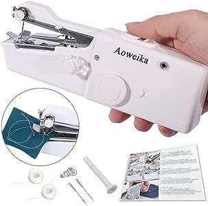 Aoweika Mini Máquina de Coser Manual Portátil Herramienta de ...