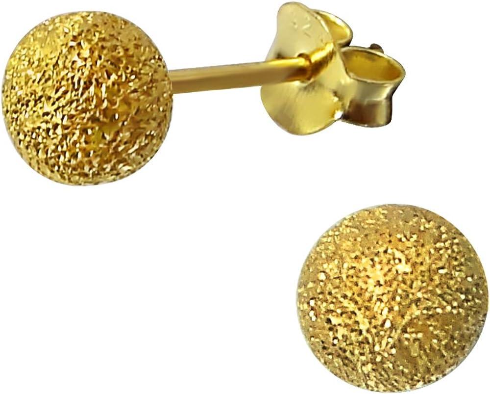 Laimons Pendientes para mujer Esfera Dorado brillante Dorado Brillante Plata de ley 925