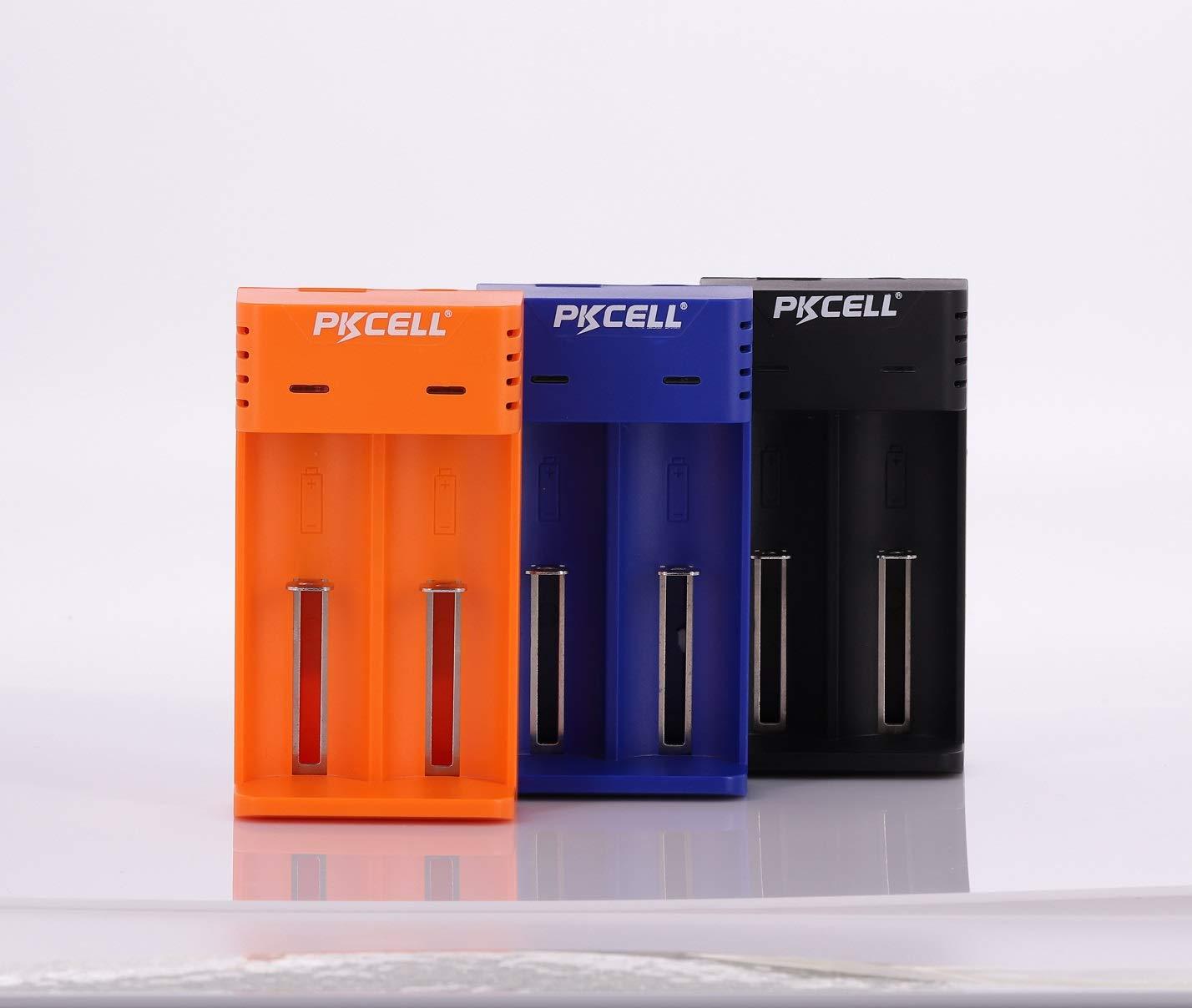 Cargador de bater/ía Dual Universal de Iones de Litio 18650 Carga Ajustable para 16340 14500 10440 17500 Bater/ía Recargable de Iones de Litio 18350 Negro