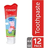 Colgate Kids Fluoride Toothpaste, Peppa Pig - 4.6 Ounce (Pack of 12)