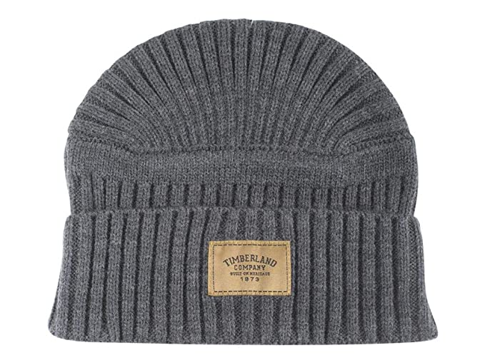 57b81e1c3c9 Timberland Gulf Beach Ribbed Beanie Charcoal Heather Gulf Beach Ribbed  Beanie CHARC