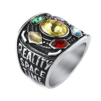Amazon.com: Valily Marvel Avengers Thanos Anillos Oro ...