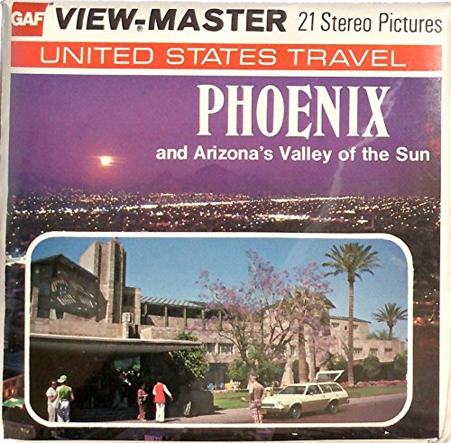 1970's Phoenix Arizona 3d View-Master 3 Reel Packet (Airport Phoenix Arizona)