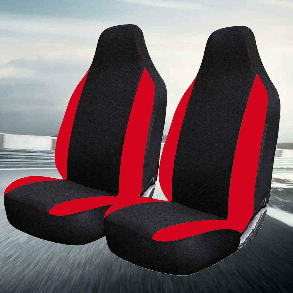 Mustang F150 Eco Fusion FSW 1+1 Red Racing Car Front Deluxe Red Racing Seat Covers Fits: B-Max Escort S-Max Mondeo Puma Galaxy C-Max Cougar Focus Kuga Edge Fiesta