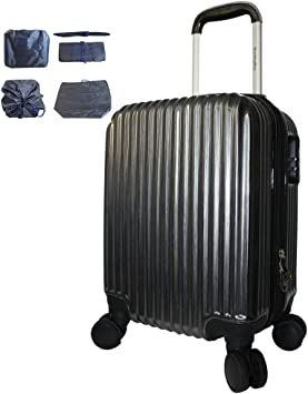 Plus Luggage Cover BoardingBlue New Airlines Personal Item Under Seat Spinner Hard Luggage Black