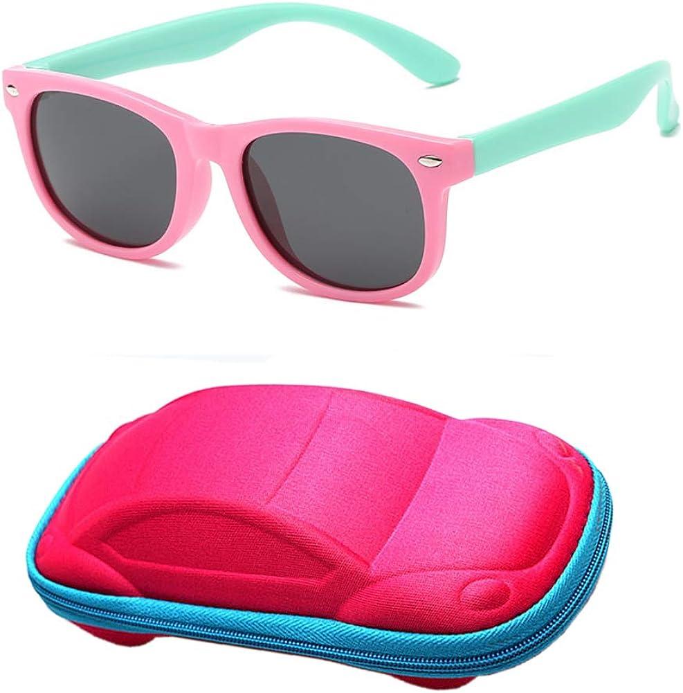 Flyfish Gafas de sol geniales para niños Gafas de sol para niños Niños Chicas Sunglass UV 400 Protección con estuche Regalo para niños