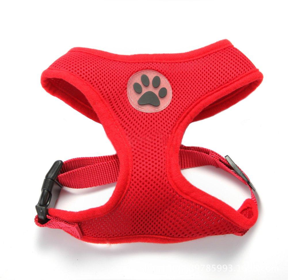 BbearT® Harnais réglable pour chien/chiot en tissu filet doux, respirant et souple Beibao