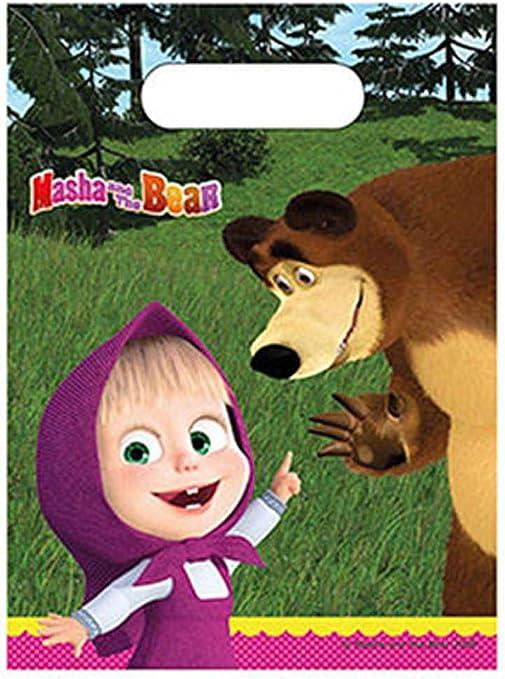 Amazon.com: Masha y el Oso bolsas de fiesta (6 unidades ...
