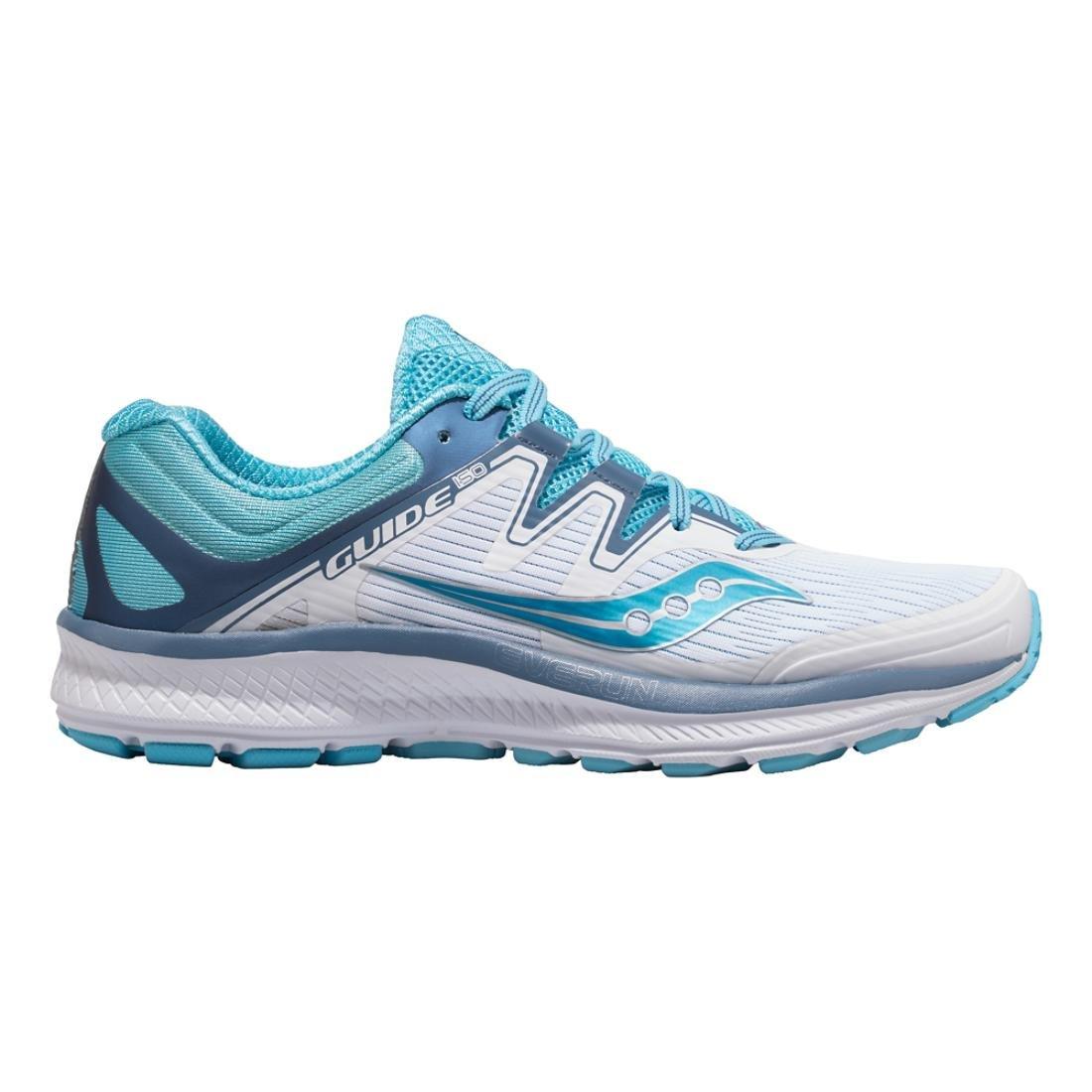 Saucony Women's Guide Iso Running Shoe B078PPVG6V 7.5 B(M) US|White/Blue