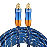 Optical Cables, EMK LSYJ-A 5m OD6.0mm Gold Plated Metal Head Toslink Male to Male Digital Optical Audio Cable