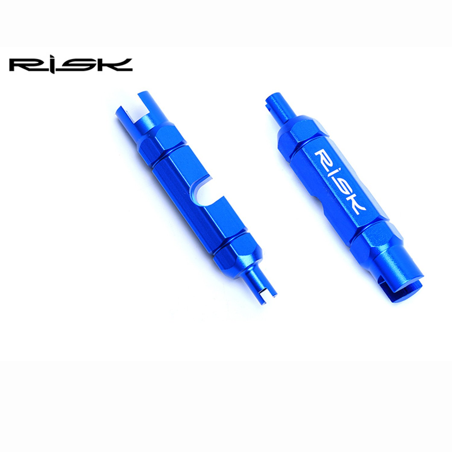 Color : Blue Zesion Headed Multi-function Mouth Inner Tube Valve Core Tool Mouth Pipe Tire Extension Rod Removal Wrench For Bicycle