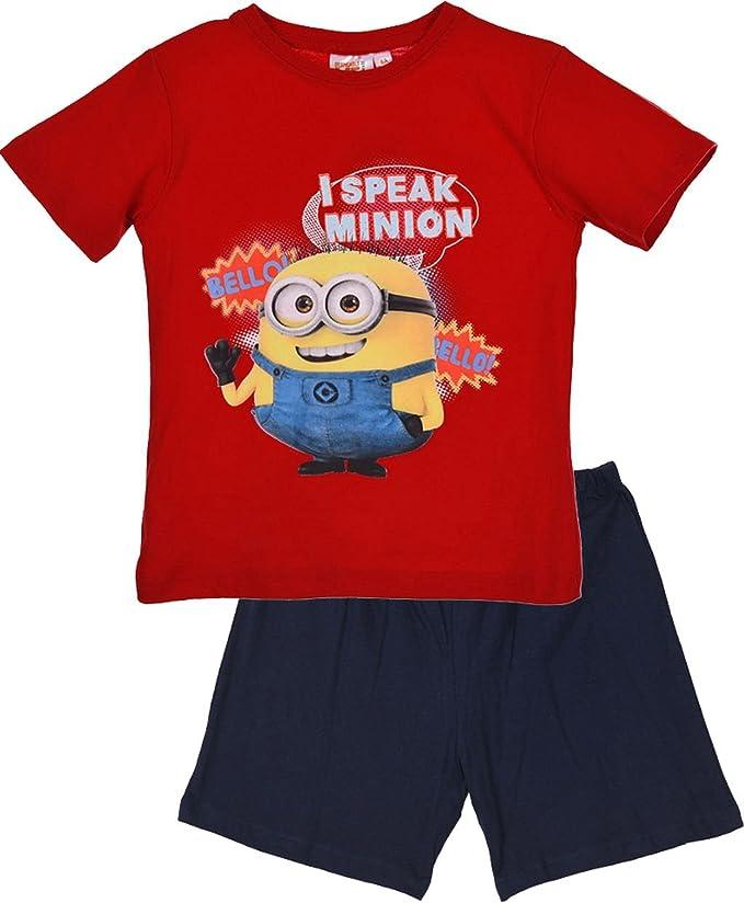 Minions Ich Einfach Unverbesserlich Shorty Schlafanzug In Rot Gr 98 Bekleidung