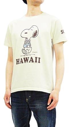 aaa87cba Sun Surf Men's Slim fit Loopwheeled T-Shirt Peanuts Snoopy Tee SS78116  Off-White