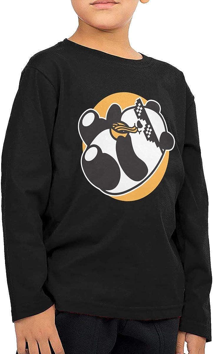 Viseaga Ramen Life Unisex Long Sleeve Cotton T-Shirt for Boys and Girl 2-6T