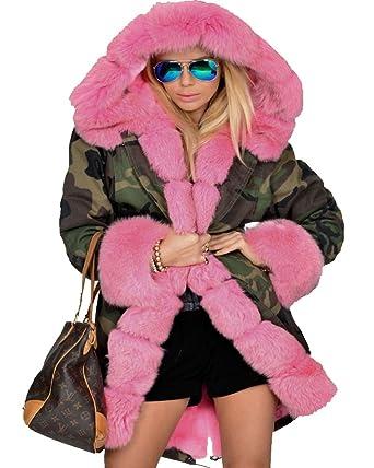 Veste fausse fourrure femme rose
